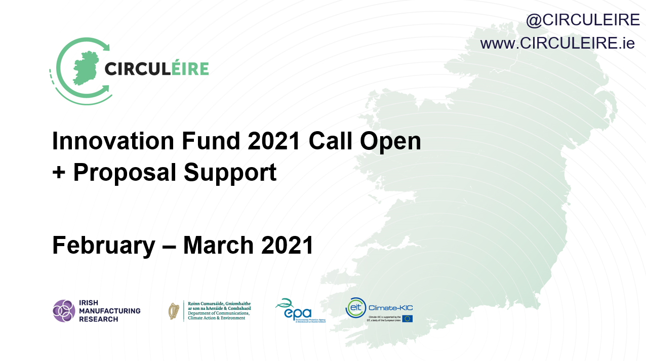 innovation fund circuleire support proposal