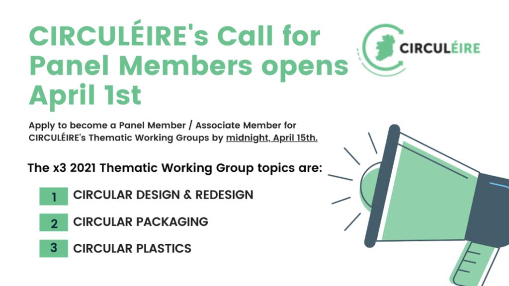 Panel members circuleire thematic working groups circular economy