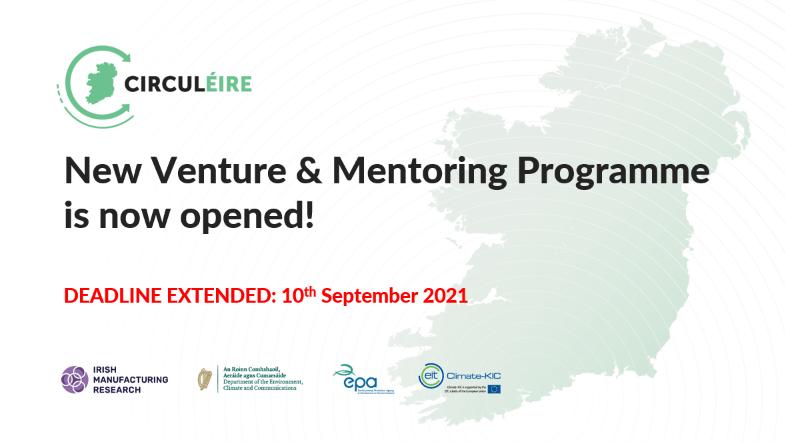 New venture programme circular economy Trinity IMR